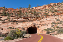 Zion Mount Carmel Highway Tunnel Stock Images