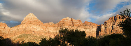 Zion Mountain Peaks Royalty Free Stock Image