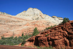 Zion Mt Carmel Highway Royalty Free Stock Images