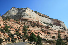 Zion Mt Carmel Highway Stock Photo