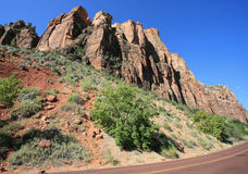 Zion Mt Carmel Highway Stock Image