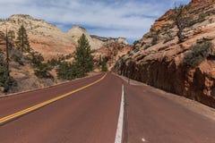 Zion-MT Carmel Highway, Hogere Zion stock fotografie