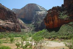 Zion Nationa;l Park in Utah Royalty Free Stock Photography