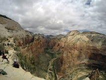 Zion National Parc Angels-landen die 2 wandelen royalty-vrije stock fotografie