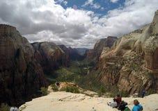 Zion National Parc Angels-Landungswandern lizenzfreies stockfoto