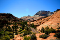 Zion National Park. Rock formations in Zion National Park, Utah Royalty Free Stock Photo