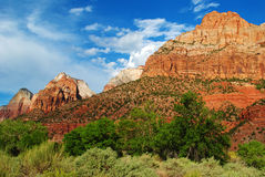 Zion National Park. Dramatic views in Zion National Park, Utah, USA Stock Photo