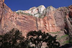 Zion National PArk. Majestic view of numerous geologic formations in Zion National Park, Utah stock photography