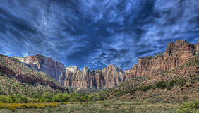 Zion National Park. Is located in the Southwestern United States, near Springdale, Utah Stock Photos
