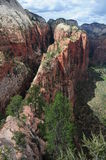 Zion National Park. Angel`s landing trail in Zion National Park, Utah, USA Royalty Free Stock Photo