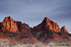 Zion National Park. Sunset at Zion National Park, Utah Stock Photo
