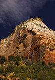 Zion national park. One of the red mountains in the zion national park Royalty Free Stock Photography