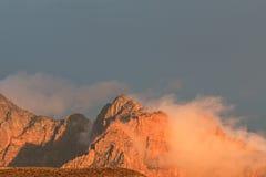 Zion National Park ad alba Immagini Stock Libere da Diritti