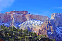 Zion National Park - Altar of Sacrifice Stock Photo