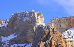 Zion National Park - Altar of Sacrifice Mountain. (Utah, USA royalty free stock photography
