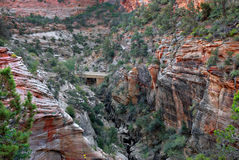 Zion National Park Bridge Royalty Free Stock Images