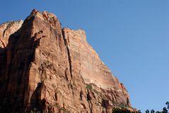Zion National Park. Cliff face at Zion National Park, Utah royalty free stock photos