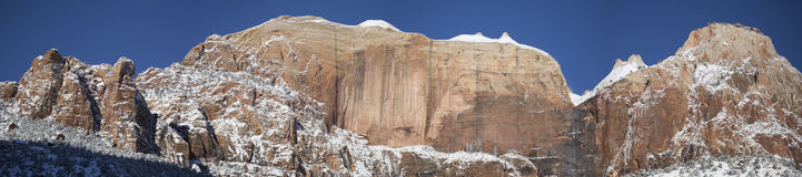 Zion National Park en la nieve 9 Imágenes de archivo libres de regalías