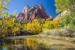 Zion National Park en otoño Imagen de archivo libre de regalías