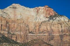 Zion National Park en un día soleado brillante Fotografía de archivo libre de regalías