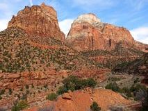 Zion National Park Landscape Lizenzfreie Stockfotos