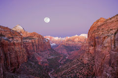 Zion National Park. Mountain peaks of Zion National Park as seen from Lookout Trail stock photo