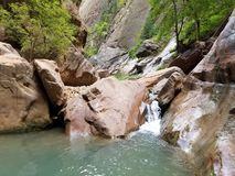 Canyon waterfall royalty free stock images