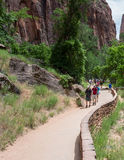 Zion National Park Narrows Trail Stock Photos