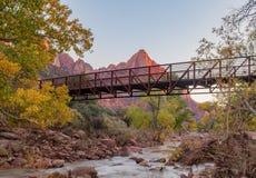 Zion National Park nella caduta Fotografia Stock Libera da Diritti