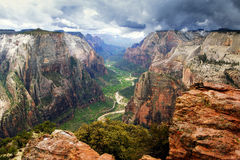 Zion National Park. The Observation Point Zion national park Stock Image