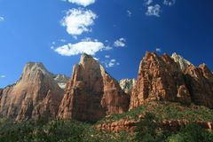 Zion National Park - Patriarchs Royalty Free Stock Image