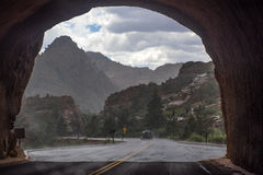 Zion National Park on a rainy day Stock Image