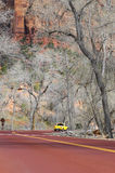 Zion National Park road (Utah, USA) Stock Image