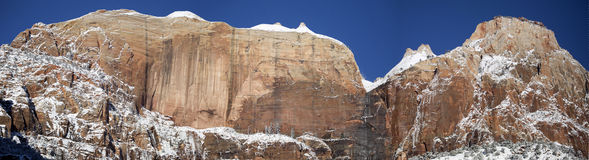 Zion National Park in Sneeuw 7 Stock Foto's