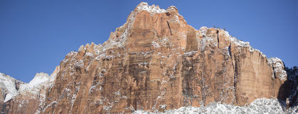 Zion National Park in Sneeuw 10 Stock Afbeeldingen