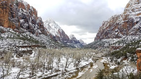 Zion National Park in Snow Stock Photos