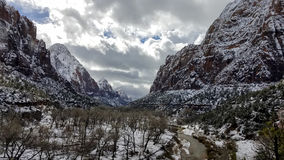 Zion National Park in Snow Stock Photography
