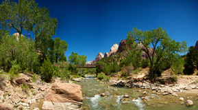 Zion National Park Stream Royalty Free Stock Image