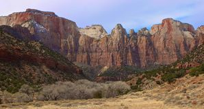 Zion National Park. Stunning view of Zion National Park in Utah Royalty Free Stock Photo