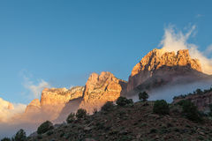 Zion National Park Sunrise Stock Images