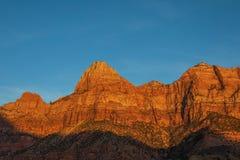 Zion National Park Sunrise Landscape scenico immagine stock libera da diritti