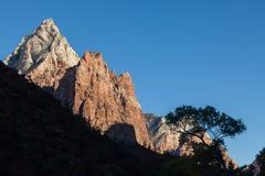 Zion National Park Sunrise Scenic Royalty Free Stock Photos