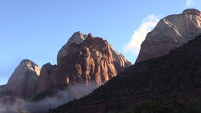 Zion National Park at Sunrise stock video footage