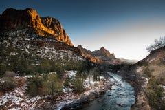 Zion National Park Sunset Stock Image