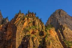Zion National Park at Sunset, Utah Stock Image