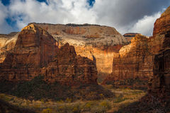 Zion national park Temple of Sinawava Royalty Free Stock Images