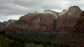 Zion National Park - Time Lapse. Shot with a professional camera stock footage