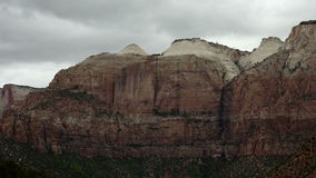 Zion National Park - Time Lapse. Shot with a professional camera stock video footage