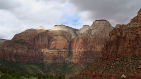 Zion National Park - Time Lapse. Zion National Park.  Shot with a Sony EX3 broadcast quality camera stock footage