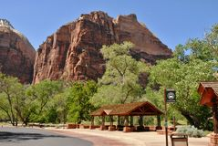 Zion National Park in Utah. USA royalty free stock photo